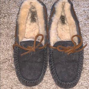 Grey ugg moccasins